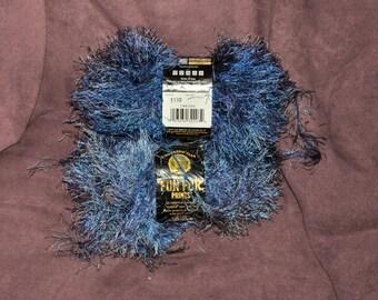 Lion Brand Fun Fur Eyelash Yarn 2 Skiens - Blue