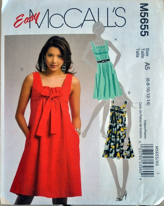 McCall's Sewing Pattern M5655 sizes 6-14 Summer Dress