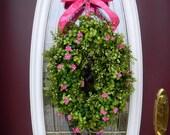 "Spring Wreath Summer Wreath Grapevine Door Wreath Decor..""Precious"""