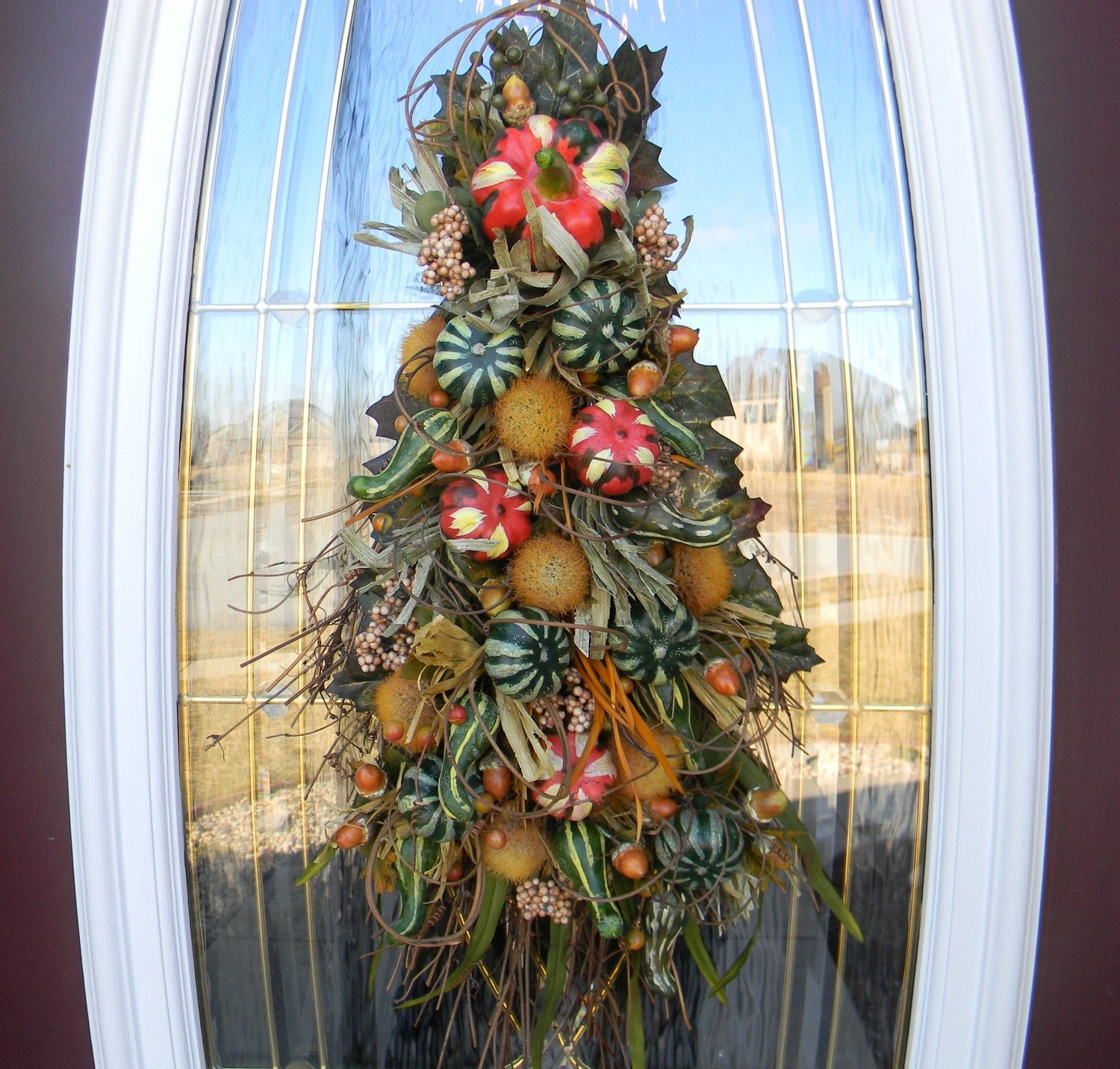 Fall Door Swags: Fall Harvest Twig Swag Wreath Door Decor By