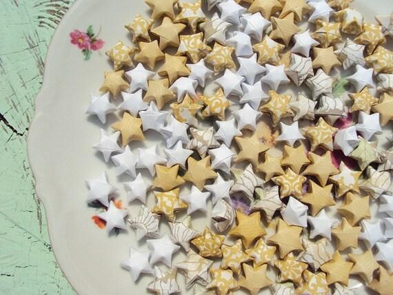 100 Golden Sunflower Origami Stars