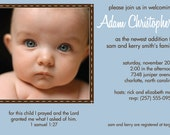 Printable Adoption Photo Baby Shower Invitations (In Blue, Pink or Green)