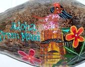 Hula Girl Coconut Postcard, Birthday Gift, Hawaii Souvenir, Novelty Gift, Birthday Card