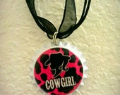Cowgirl bottle cap necklace