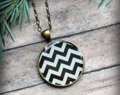 RESERVED for daftgirly - Antique Brass Chevron Necklace