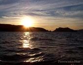 Anacapa Sunset 2, Anacapa Island, Channel Islands, California,  8x10 Original Photo Fine Art Print