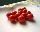 16mm Orange Plastic Beads qty 12