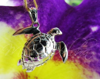 21mm Puffy Belly, Sea Turtle Pendant-14k Gold