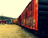 Colorful Train, Railroad Series: 5 X 7 Photo Print