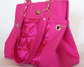 Gerald Signature Satchelette in Hot Pink