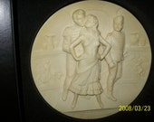 Italy Collector Plate Ivory Alabaster Carmen 1978 Limited Edition