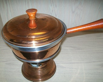 Copper 5 piece Casserole Serving Dish with Stand