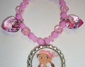Izzy from Jake and the Never Land Pirates Neverland Children's Stretch Jewelry Beaded Bracelet Charm