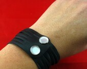 Pearly Cuff: Recycled Bicycle Inner Tube Bracelet