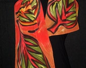 One of a Kind Handpainted Scarf: SALE