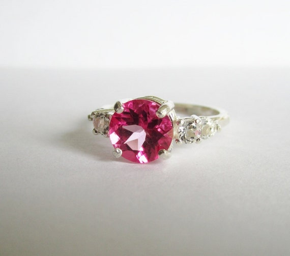 SALE - Natural Pink Topaz Ring - Size 7 - CobbledStone