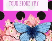Butterfly Banner and Avatar for Etsy -- Say hello to Spring With a new Etsy Shop Banner
