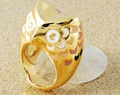 Owl Gold Ring