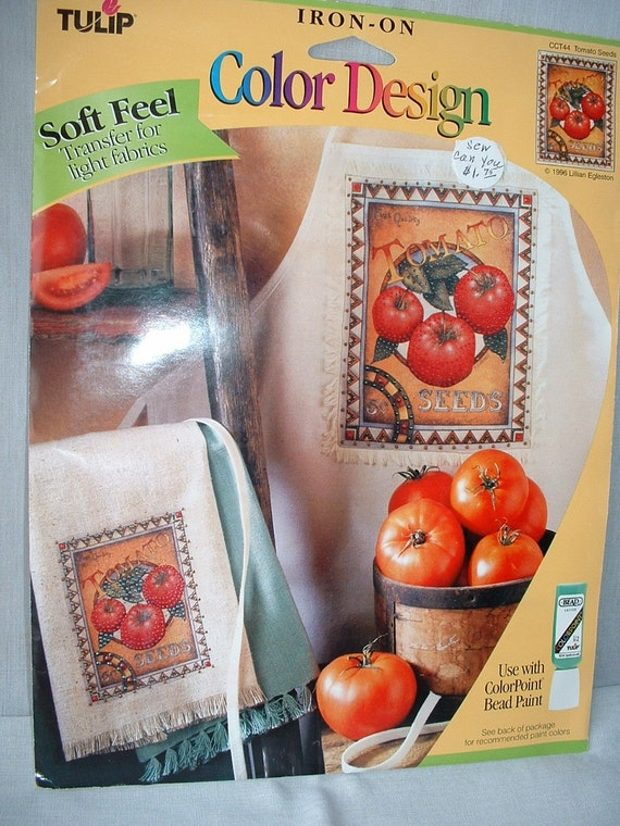Tomato Seeds Iron On Color Design by Tulip - LAST one of this design