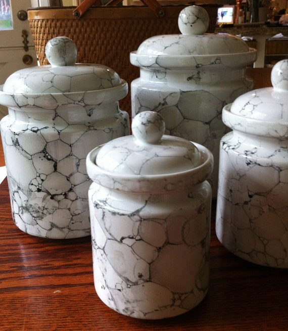 ceramic canisters sets for the kitchen white kitchen canister set ceramic marble glaze 8173