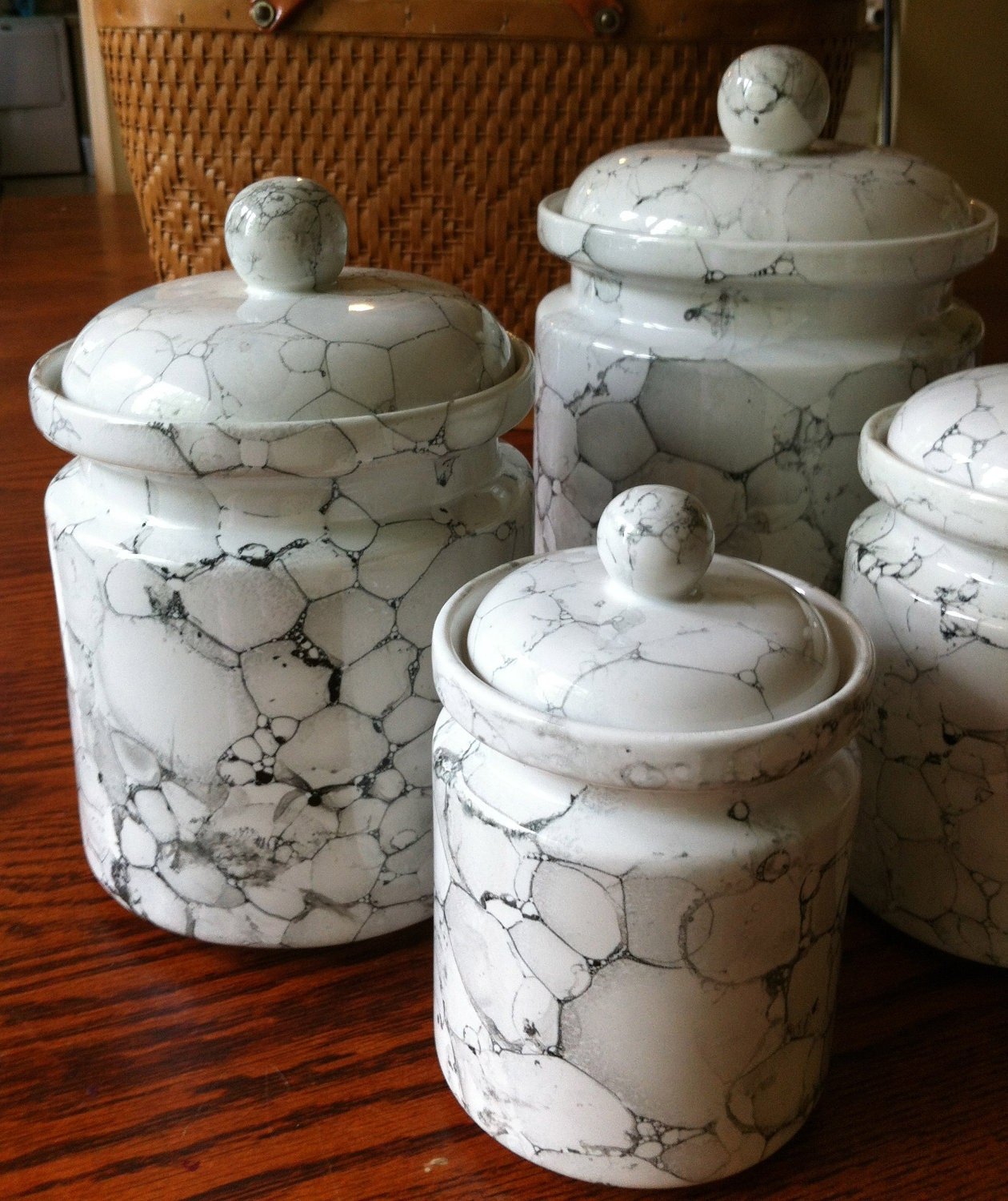 white kitchen canisters sets white kitchen canister set ceramic marble glaze 2896