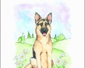 German Shepherd Dog (2) Note Cards (box of 16)