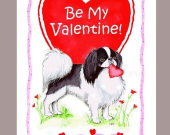 Japanese Chin Valentine Card
