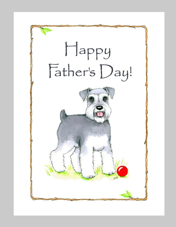 Schnauzer Father's Day Card