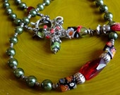 50 Bead Chotki, Prayer Rope, Komboskini, St. Pachomius, Jesus Prayer, Green Pearls