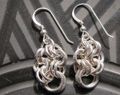 Chain Maille silver Earrings