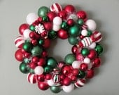 2 Reserved-Heather--SPEARMINT PEPPERMINT CHRISTMAS Ornament Wreath