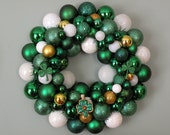 Special order- Alison  ST. PATRICK'S DAY Ornament Wreath with Shamrocks