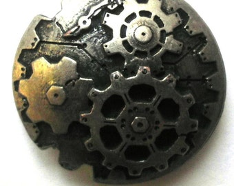 Steampunk 3D Gear Buttons