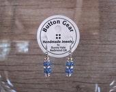 Blue Glass Bead Earrings (light)