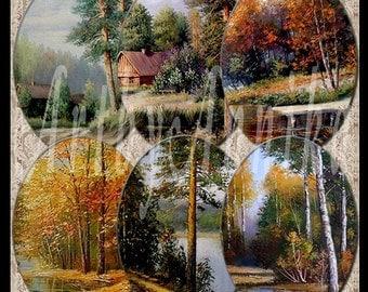 Digital Collage of Magnificent landscape - 36 30 x 40 mm JPG images - Digital Collage Sheet