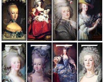 Digital Collage of Maria Antoinette - 35 1x2 Inch JPG images - Digital Collage Sheet