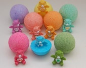 Three Care Bear Toy fizzy bath bomb - you choose the color