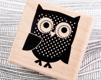 Owl - Wood Mounted Rubber Stamp by Hampton Art