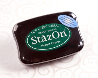 Stazon Permanent Ink Pad - Forest Green