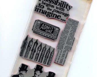 Curious Possibility - Cling Rubber Stamps from Tim Holtz