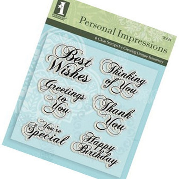 Expressions - Clear Acrylic Stamps from Inkadinkado