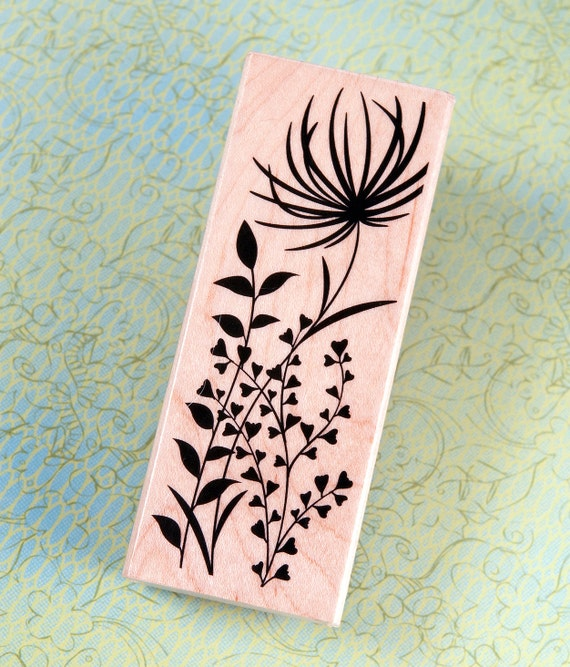 Exotic Bloom - Wood Mounted Rubber Stamp by Hero Arts