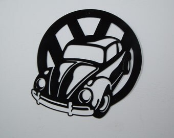 VW Classic Beetle Metal Wall Art
