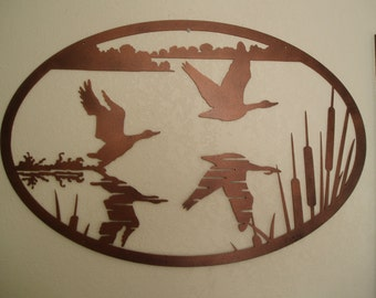Geese Taking Flight - Metal Wall Art