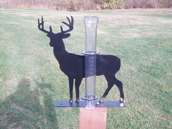 Rain Gauge - Buck Deer  Design