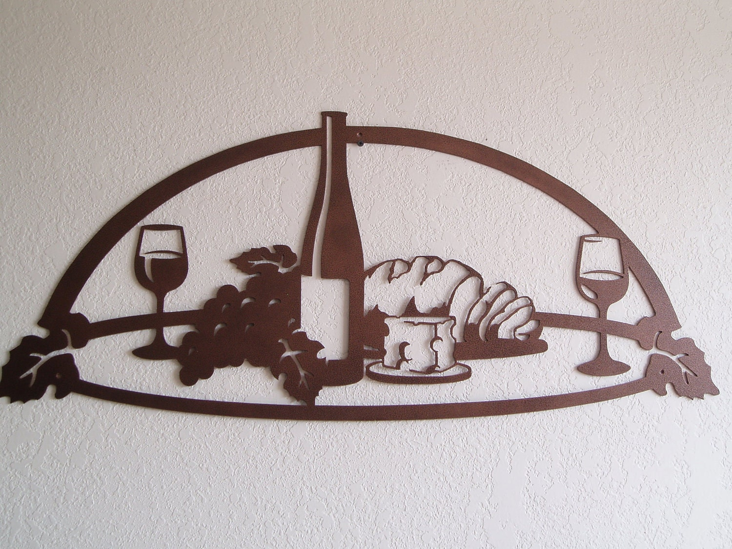 Wine And Grape Still Life Metal Wall Art By SunsetMetalworks