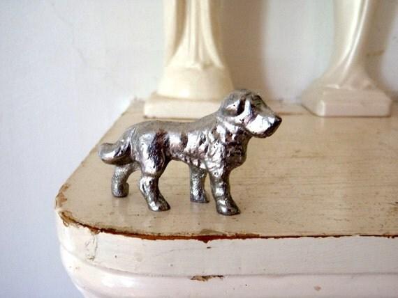 Vintage Metal Dog Miniature Dog Vintage toy