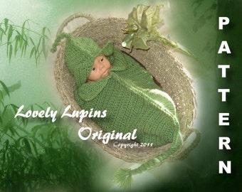 crochet pattern, sweet little pea pod, crochet cocoon, baby cocoon pattern, crocheted baby cocoon, newborn, photo prop, crochet pattern
