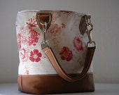 Country Rose Handbag with Leather Trim