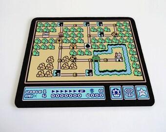 Mario world 1 grassland mousepad